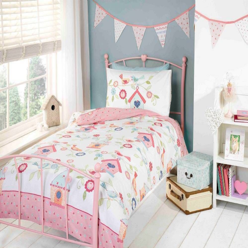"""Birds Houses"", Children's Single Duvet, Easy Care, ""Kidz"" by Rapport"